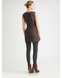 Dolce & Gabbana - Brown Fitted Lace Dress - Lyst