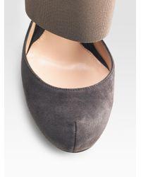 Donna Karan - Black Ruffled Silk-organza and Wool-felt Skirt - Lyst