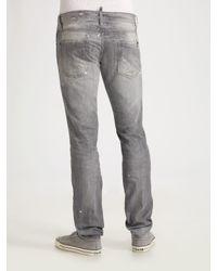 DSquared² | Gray Herringbone Vest for Men | Lyst