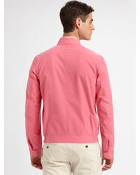 DSquared² - Pink Cotton Bomber Jacket for Men - Lyst