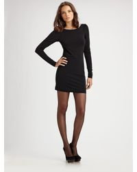 Elizabeth and James | Black Holiday Long Sleeve Zip Back Luna Dress | Lyst