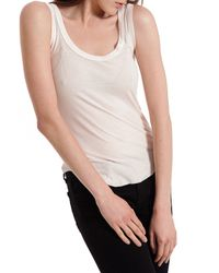 Enza Costa | Natural Ribbed Bball Tank in Nude | Lyst