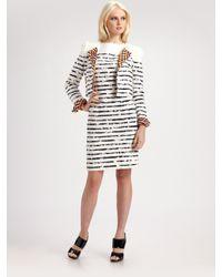 ESCADA | White Dorret Crayola Stripe Dress | Lyst