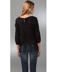 Free People - Black Far From Home Top - Lyst