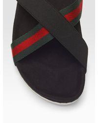 Gucci | Black Sandal for Men | Lyst