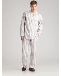 Hanro - Pink Striped Pajamas Set for Men - Lyst