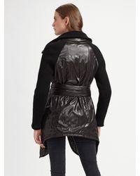 Improvd - Black Nylon Puffer Jacket - Lyst