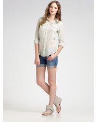 Joe's Jeans | Blue Rolled Denim Shorts | Lyst