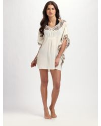 Joie - White Embroidered Gauze Coverup - Lyst