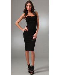 Kimberly Ovitz | Black Hendel Strapless Suede Bustier Dress | Lyst