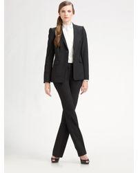 Lavia18 | Black Stretch Wool Straight-leg Trousers | Lyst