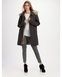 Larok | Gray Rabbit Fur Vest & Parka | Lyst