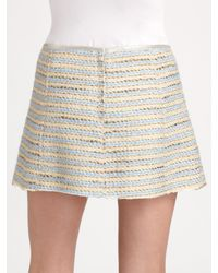 Marc Jacobs - White Mini Striped Tweed Skirt - Lyst