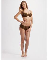Nanette Lepore | Green Coquette Bikini Top | Lyst
