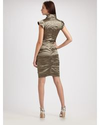 Nicole Miller - Metallic Cap Sleeve Cocktail Dress - Lyst