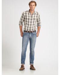 Polo Ralph Lauren | Gray Custom-fit Compass Shirt for Men | Lyst