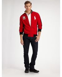 Polo Ralph Lauren | Red Big Pony Track Jacket/spain for Men | Lyst