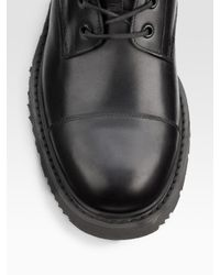 Prada | Black Lace-up Boots for Men | Lyst
