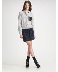 Proenza Schouler | Blue Snap Front Skirt | Lyst