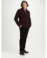 Rag & Bone - Purple Flint Cardigan for Men - Lyst