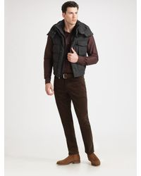 Ralph Lauren Black Label | Gray Wool/nylon Mack Vest for Men | Lyst