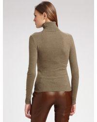 Ralph Lauren Blue Label - Brown Leather Pants - Lyst