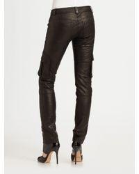 Robert Rodriguez - Black Leather Cargo Pants - Lyst