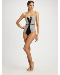 Rosa Cha | Black Belted Monokini Swimsuit | Lyst