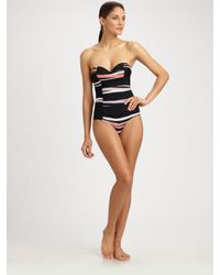Rosa Cha | Black Striped One-piece Swimsuit | Lyst