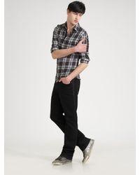 Royal Underground | Blue Crinkled Plaid Shirt for Men | Lyst