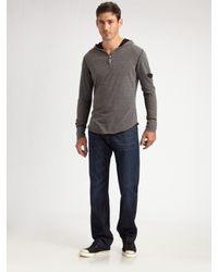 Royal Underground | Gray Zip Henley Shirt for Men | Lyst