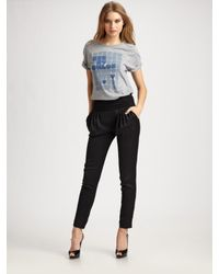 See By Chloé - Black Rouched Waist Harem Pants - Lyst