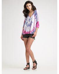 Siwy | Gray Camilla Cut-off Denim Shorts | Lyst