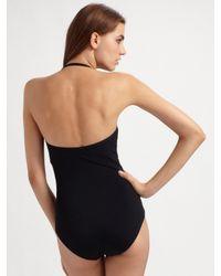Spanx - Black One-piece Halter Swimsuit - Lyst