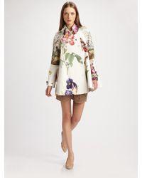 Stella McCartney | Multicolor Forsythia Botanical Cotton Coat | Lyst