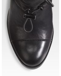 Tory Burch | Black Denim/leather Biker Leggings | Lyst