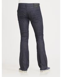True Religion - Blue Marco Slim Bootcut Jeans for Men - Lyst