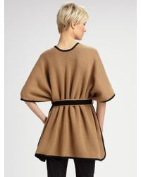 TSE - Natural Two-tone Belted Cape - Lyst