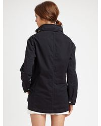 Vince - Blue Twill Utility Jacket - Lyst