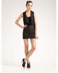 Alexander Wang | Black Draped-top Dress | Lyst