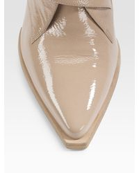 Alexander Wang - Natural Ines Patent Leather Loafers - Lyst