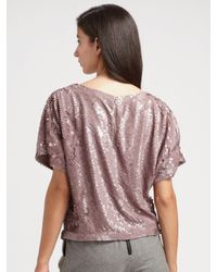 Alice + Olivia | Pink Sequin Top | Lyst