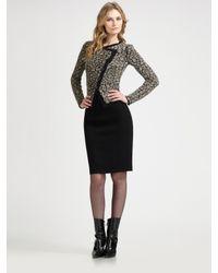 Armani | Black Pebbled Cutaway Knit Jacket | Lyst