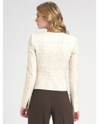 Armani | White Textured Matelasse Jacket | Lyst