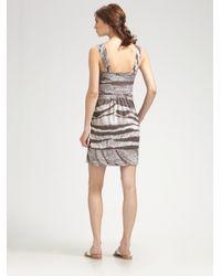 BCBGMAXAZRIA - Natural Poplin Print Day Dress - Lyst