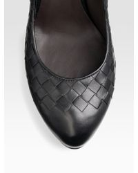 Bottega Veneta | Black Leather Woven Pumps | Lyst