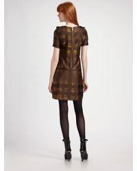 Burberry - Metallic Leena Ikat Pleat Front Dress - Lyst