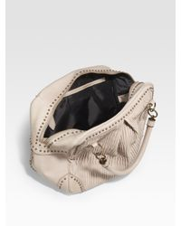 Burberry | Natural Plissé Leather Tote | Lyst