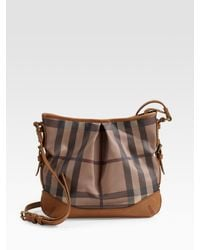 Burberry | Brown Smoke Check Crossbody Bag | Lyst