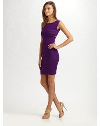 Catherine Malandrino | Purple Knit Cutout Dress | Lyst